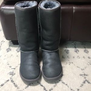 Silver charcoal uggs